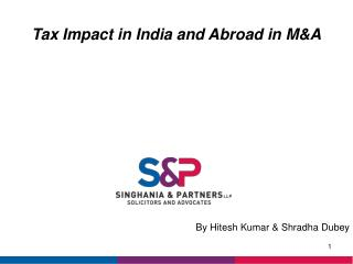 Tax Impact in India and Abroad in M&A