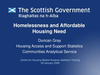 Homelessness and Affordable Housing Need