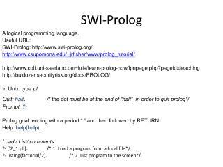 SWI-Prolog