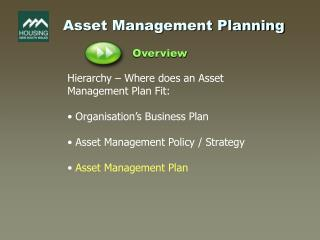 Asset Management Planning