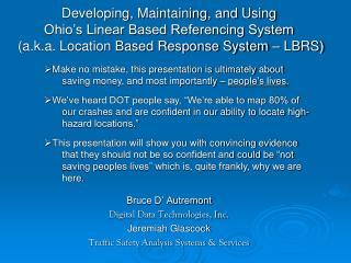 Bruce D' Autremont Digital Data Technologies, Inc. Jeremiah Glascock