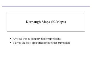 Karnaugh Maps K-Maps