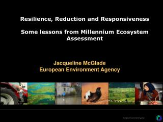 Resilience, Reduction and Responsiveness Some lessons from Millennium Ecosystem Assessment