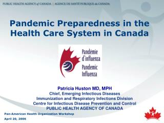 Pandemic  Preparedness in the Health Care System in Canada