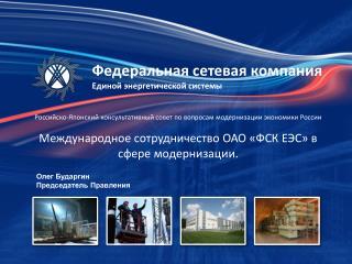 Федеральная сетевая компания Единой энергетической системы