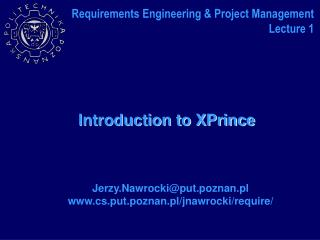 Introduction to XPrince
