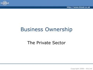 Business Ownership