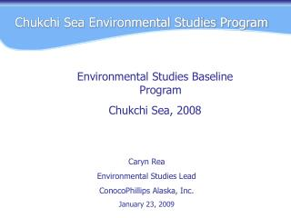 Chukchi Sea Environmental Studies Program