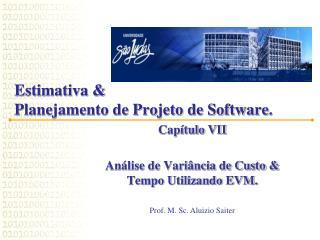 Estimativa &  Planejamento de Projeto de Software .