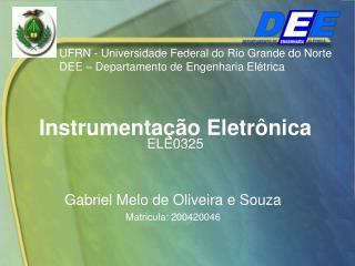 Instrumentação Eletrônica ELE0325