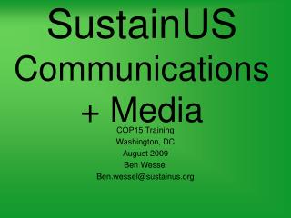 SustainUS Communications + Media
