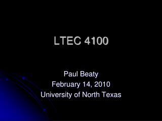 LTEC 4100