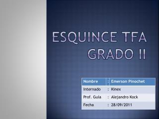 Esquince TFA Grado II