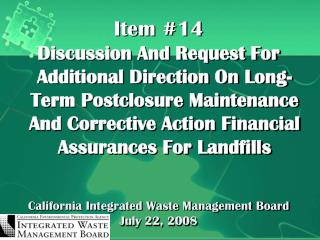California Integrated Waste Management Board July 22, 2008