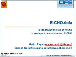 E-CHO.šola