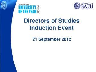 Directors of Studies Induction Event
