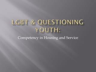 LGBT & Questioning Youth:
