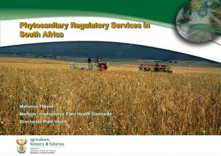 Phytosanitary Regulatory Services in South Africa