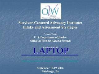Survivor-Centered Advocacy Institute: Intake and Assessment Strategies Presented by the