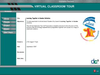 VIRTUAL CLASSROOM TOUR
