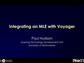 Integrating an MLE with Voyager