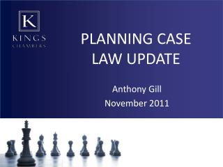 PLANNING CASE LAW UPDATE