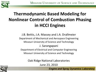 Thermodynamic Based Modeling for Nonlinear Control of Combustion Phasing in HCCI Engines