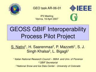 GEOSS GBIF Interoperability Process Pilot Project