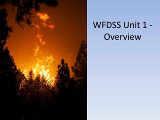 WFDSS Unit 1 - Overview