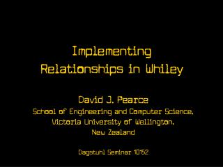 Implementing Relationships in Whiley