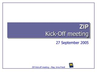 ZIP Kick-Off meeting