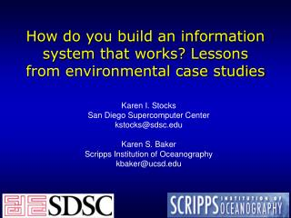 How do you build an information system that works? Lessons from environmental case studies
