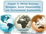 Chapter  9:  Ethical  Business  Strategies,  Social  Responsibility,  and  Environmental  Sustainability