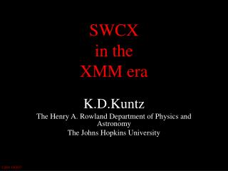 SWCX  in the  XMM era