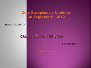 CALTORIND PRIN EUROPA