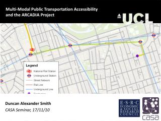 Multi-Modal Public Transportation Accessibility and the ARCADIA Project