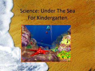 Science: Under The Sea For Kindergarten