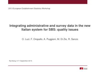 Integrating administrative and survey data in the new Italian system for SBS: quality issues