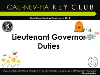 Lieutenant Governor Duties