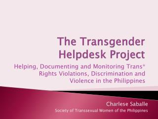 The Transgender Helpdesk Project