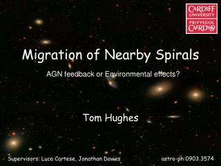Migration of Nearby Spirals