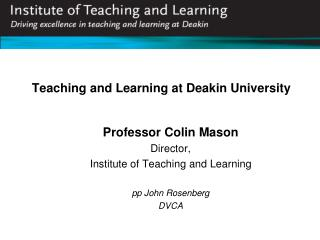 Teaching and Learning at Deakin University