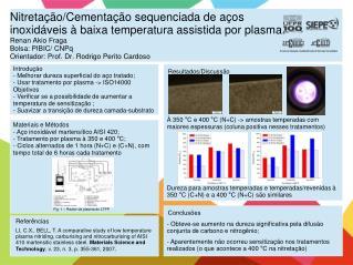 Introdução  Melhorar dureza superficial do aço tratado;  Usar tratamento por plasma -> ISO14000