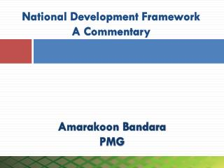 National Development Framework A Commentary