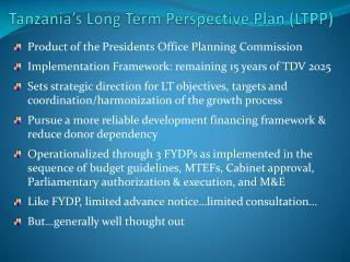 Tanzania's Long Term Perspective Plan (LTPP)