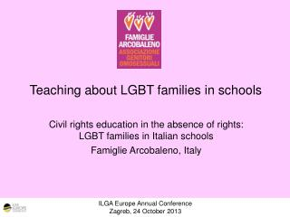 Teaching about LGBT families in schools