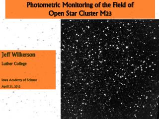 Photometric Monitoring of the Field of Open Star Cluster M23
