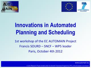 Innovations in Automated Planning and Scheduling