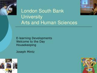 London South Bank University Arts and Human Sciences
