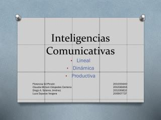 Inteligencias Comunicativas
